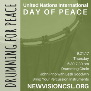6:00pm International Day of Peace Drumming Circle @ Social Hall