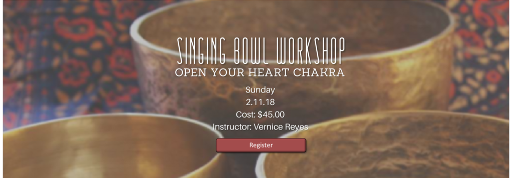 12:00 pm Singing Bowl Workshop - Open Your Heart Chakra @ NVCSL